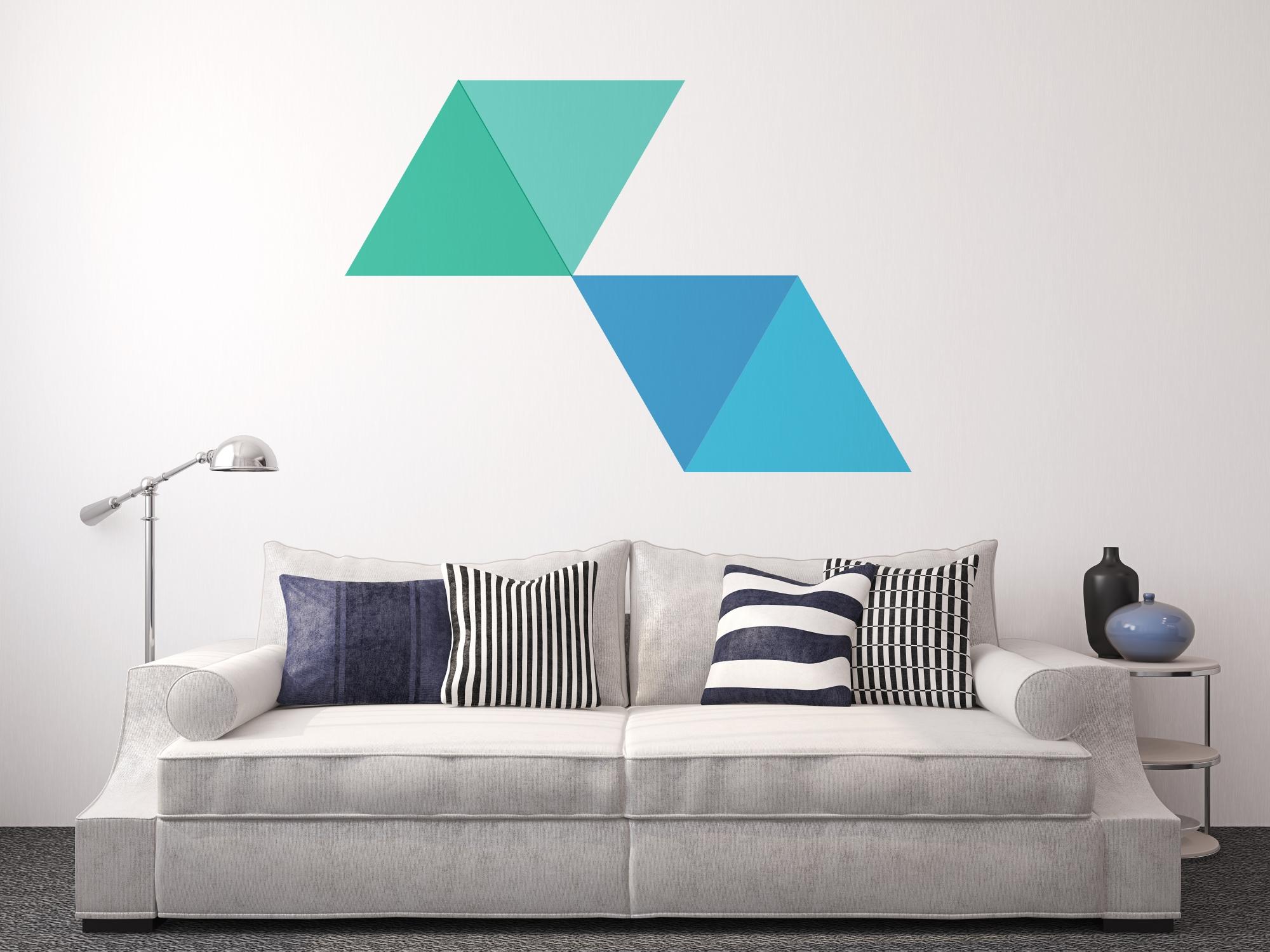 Decora tus paredes con formas b sicasblog de vinilos - Maneras de pintar ...