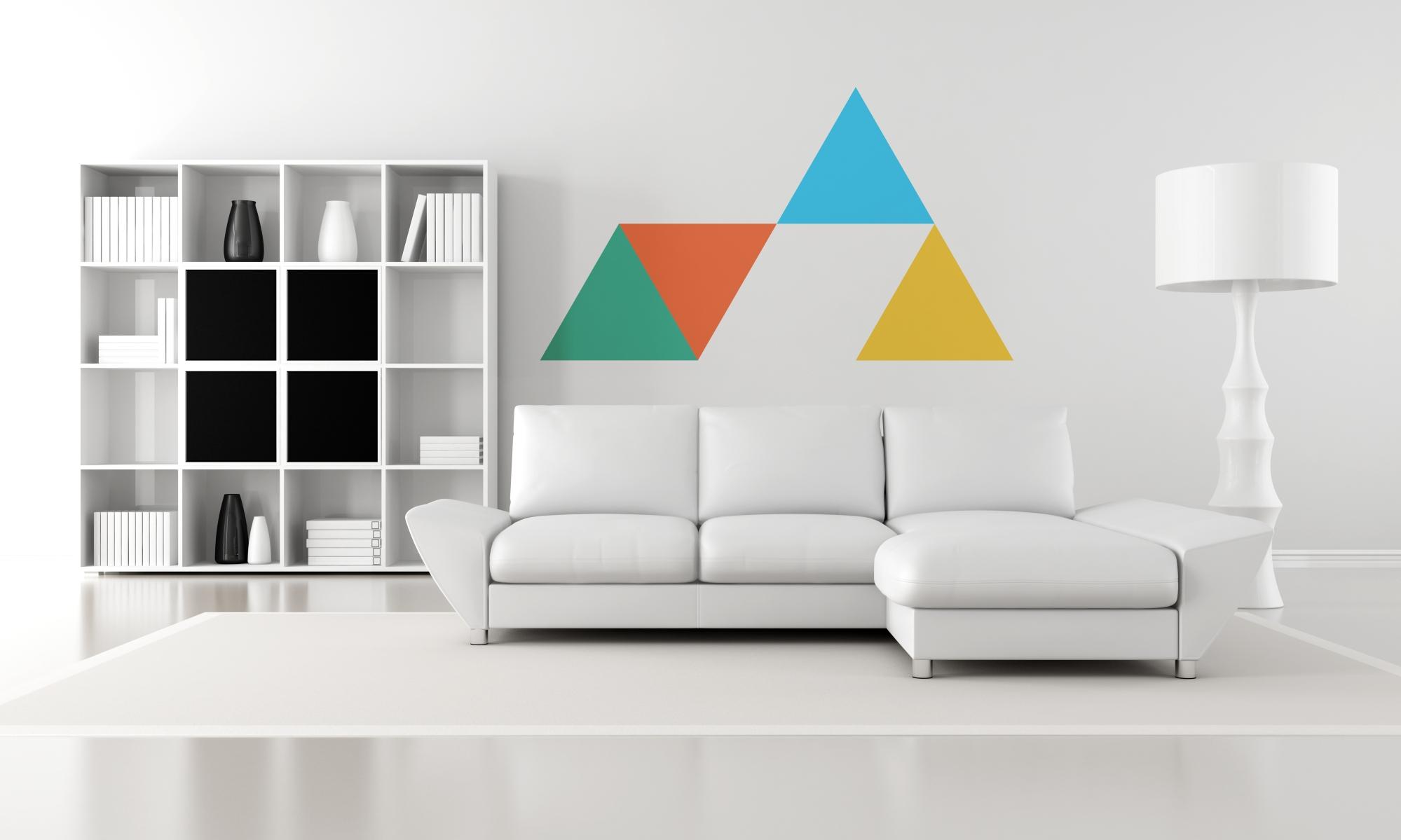 Decora tus paredes con formas b sicasblog de vinilos for Minimalist living area
