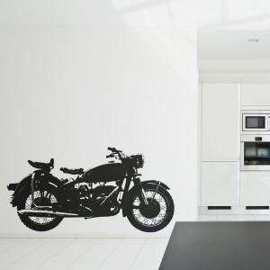 Vinilo decorativo motocicleta vintage