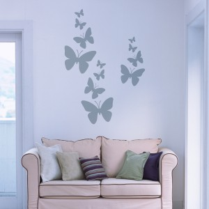 Vinilo decorativo mariposas volando