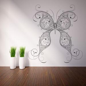 Vinilo decorativo mariposa detallada