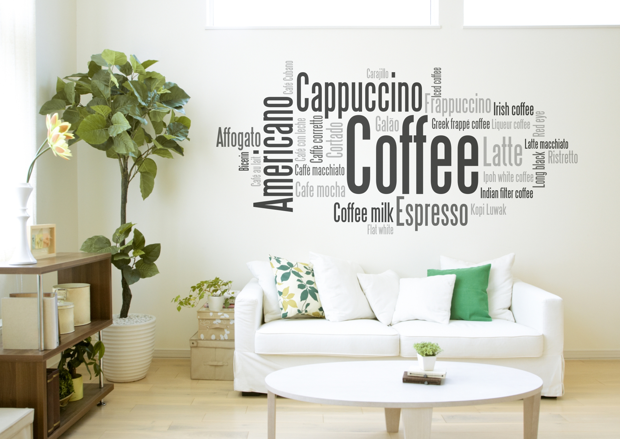 Decora tu casa o negocio con vinilos de caf sblog de for Vinilos decorativos casa