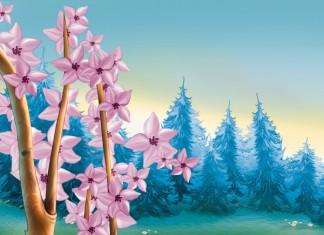 Fotomural primavera bosque