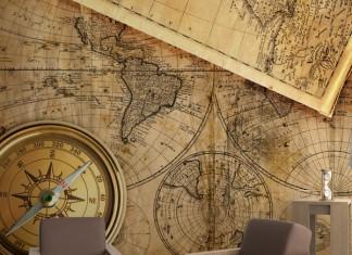 Fotomural mapamundi